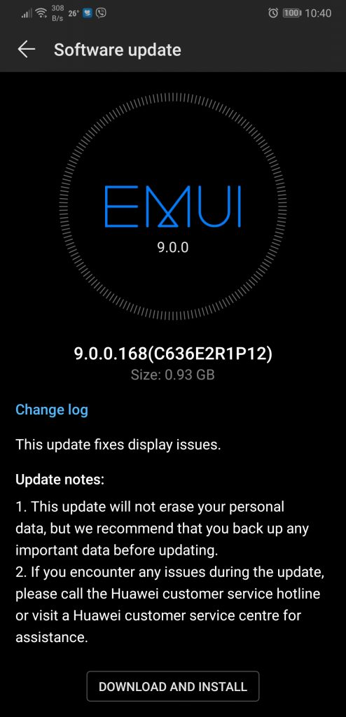 EMUI 9 update for Huawei P20 and P20 Pro in Philippines