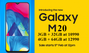 Samsung's New Infinity V Displays Smartphone Galaxy M20 Launched