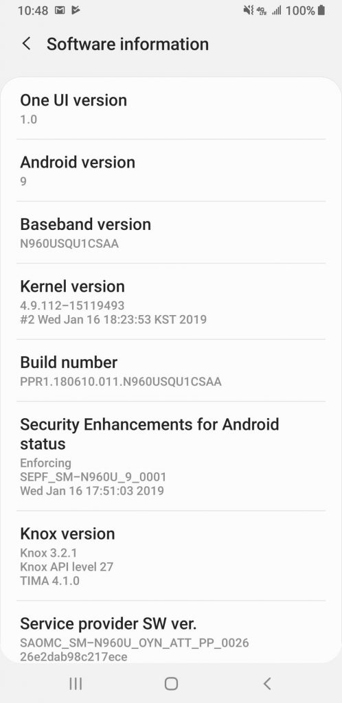 AT&T Galaxy Note 9 getting Android 9 Pie update based on One UI