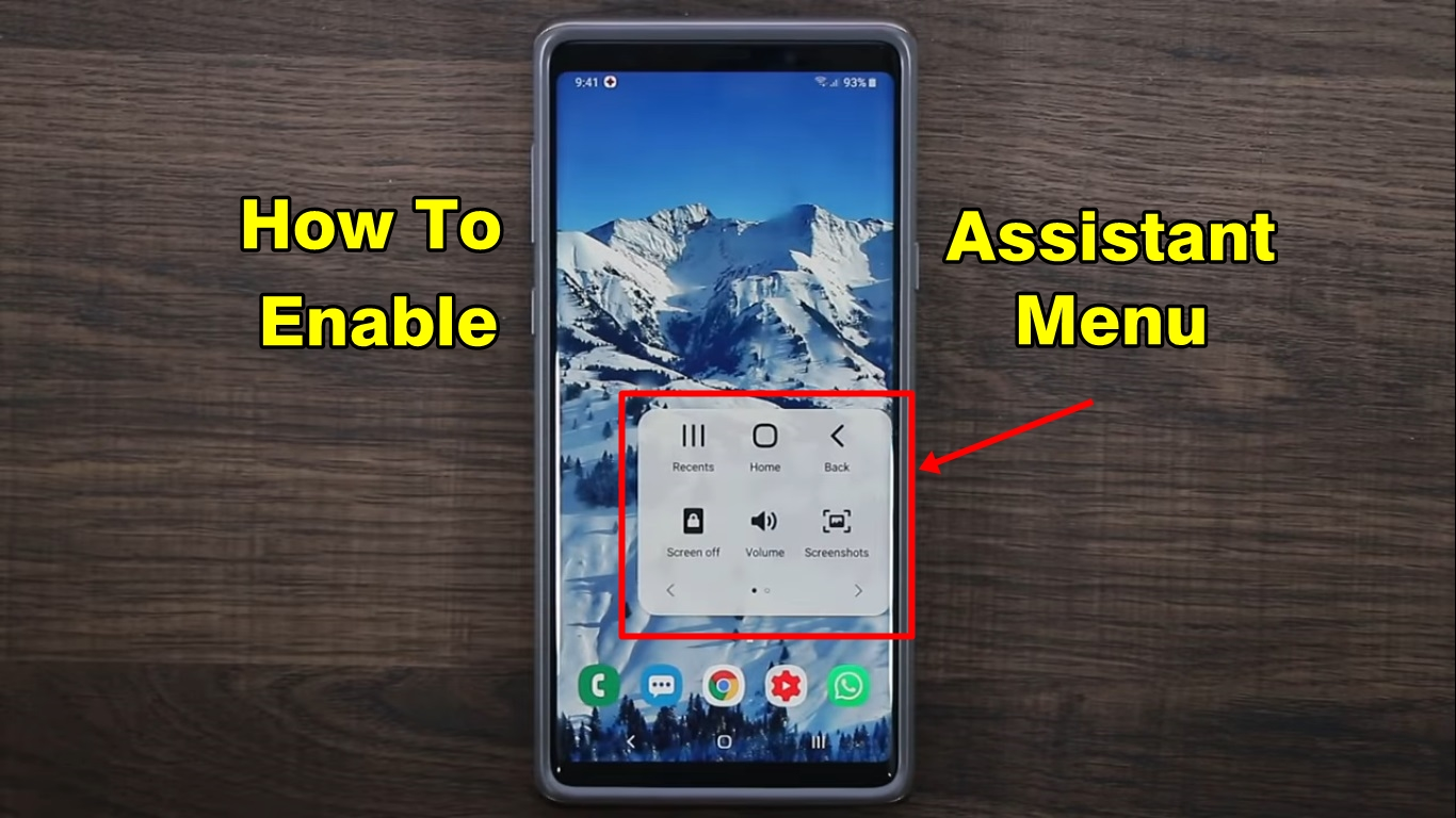How To Enable Assistant Menu in Samsung One UI